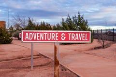 Знак приключения и перемещения Стоковые Фотографии RF