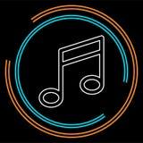 Знак примечания музыки вектора - музыкальный знак символа иллюстрация вектора