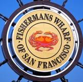Знак причала Fishermans, Сан-Франциско. Стоковая Фотография RF