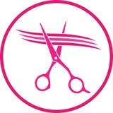 Знак при ножницы режа стренгу волос Стоковая Фотография RF