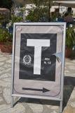 Знак продавца Tobacconist стоковые изображения rf