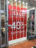 Знак продаж рождества и дня рождественских подарков стоковая фотография rf