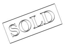 знак продал Стоковое фото RF