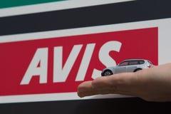 Знак прокатного автомобиля Стоковое фото RF