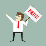 Знак протеста Стоковые Фото
