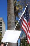 знак протестующего флага Стоковые Фото