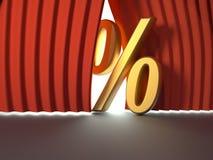 знак процента иллюстрация вектора
