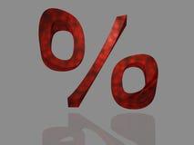знак процентов рабата aktion Стоковое Изображение RF