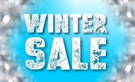 Знак продажи зимы Стоковые Изображения RF