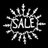 Знак продажи на черной предпосылке Стоковое Фото
