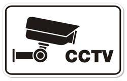 Знак прямоугольника CCTV Стоковые Изображения