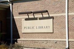 Знак публичной библиотеки Стоковые Изображения