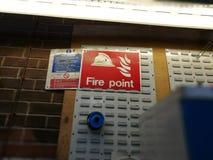 Знак пункта огня Стоковое фото RF