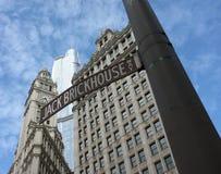 Знак пути Чикаго Джека Brickhouse Стоковая Фотография