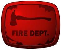 Знак плиты Grunge Dept огня красный иллюстрация штока