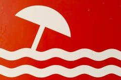 Знак пляжа Стоковая Фотография