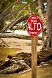 Знак пляжа Toples Стоковое Изображение RF