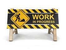 Знак работы в процессе Стоковое Изображение