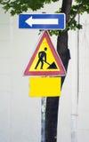 Знак работы строительства дорог Стоковое Изображение