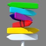 знак радуги направления Стоковая Фотография RF