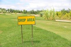 Знак района выброски парашютного десанта Стоковое Изображение