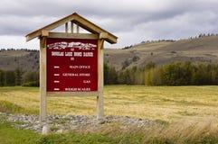 Знак ранчо озера Дуглас Стоковое Изображение
