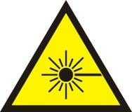 Знак радиации лазера Стоковые Изображения RF