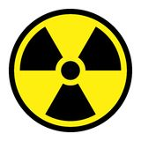 знак радиации круглый Стоковое фото RF