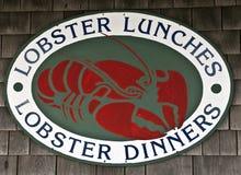 Знак ресторана омара Стоковая Фотография RF