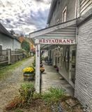 Знак ресторана стоковые изображения rf