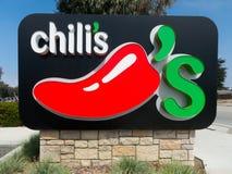 Знак ресторана Chili Стоковая Фотография RF