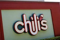Знак ресторана Chili Стоковые Фотографии RF