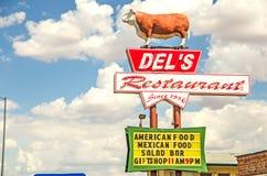 Знак ресторана Del Стоковое Изображение