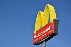 знак ресторана s mcdonald Стоковые Фото