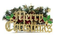 знак рождества веселый Стоковое Изображение
