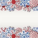 Знак рождества пустой с бумажной снежинкой Стоковая Фотография
