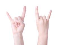 знак рожочков руки Стоковое фото RF