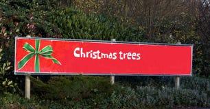 Знак рождественских елок Стоковые Изображения