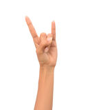 Знак рок-н-ролл Стоковая Фотография