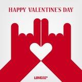 Знак руки влюбленности валентинки счастливый Стоковая Фотография RF