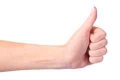 знак руки одобренный Стоковое Изображение
