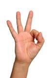 знак руки одобренный Стоковые Изображения
