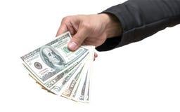 знак руки проверки бизнесмена банка Стоковые Фото