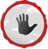знак руки grunge Стоковые Изображения