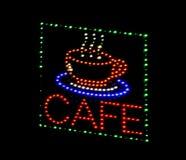 Знак светоиспускающого диода кафа Стоковые Изображения