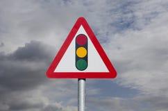 Знак светофора стоковое изображение rf