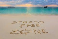 Знак свободной зоны стресса Стоковая Фотография RF