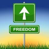 Знак свободы представляет получает отсутствующим и направлением Стоковые Изображения RF