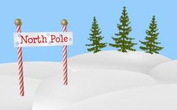 знак Северного полюса Стоковые Фотографии RF