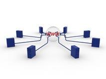 знак серверов почты e Иллюстрация вектора